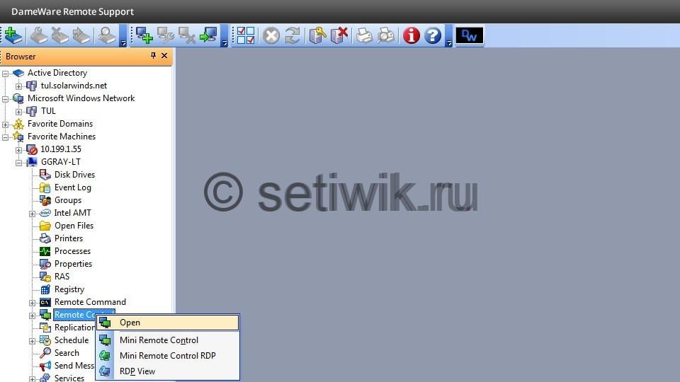 1RiI vIZxro - DameWare Mini Remote Control  помощь системному администратору.