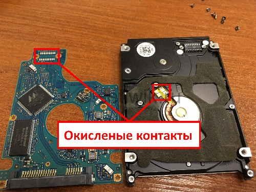 Как восстановить жесткий диск очистка контактов HDD