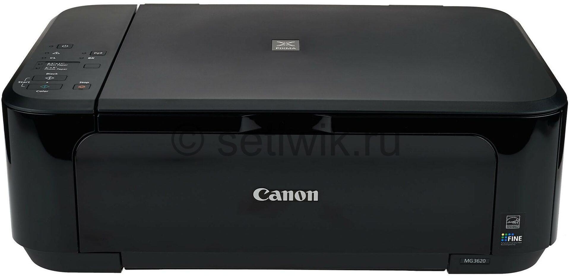 настройка Canon MG3620