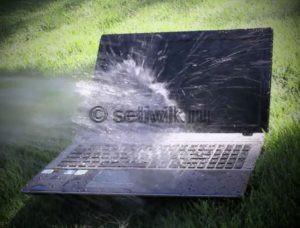 Что делать если в ноутбук попала вода