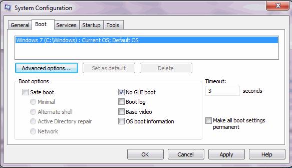 Повышение скорости загрузки Windows 7