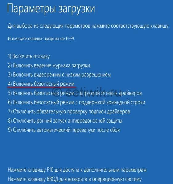 Меню выбора вариантов загрузок Windows 8
