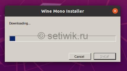 Загрузка Установщика Wine Mono