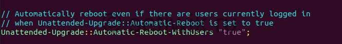 Включить автоматическую перезагрузку с пользователями в системе