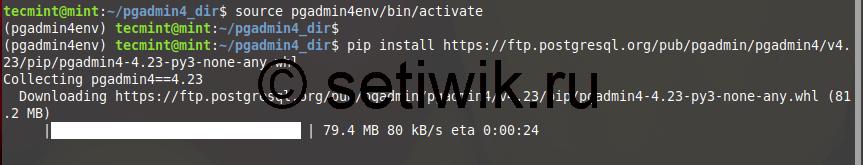 Установка PgAdmin4 в Linux Mint