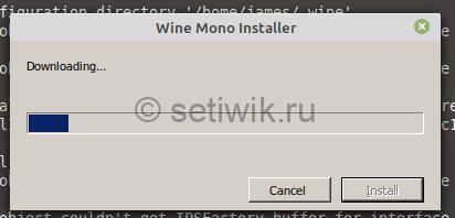 установка Wine-Mono
