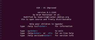 Запуск Vim Редактора Linux