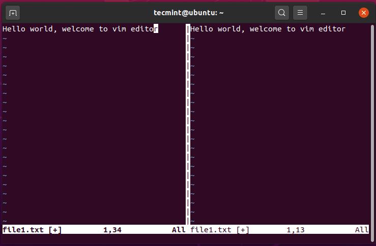 Разделение экрана VIM по вертикали