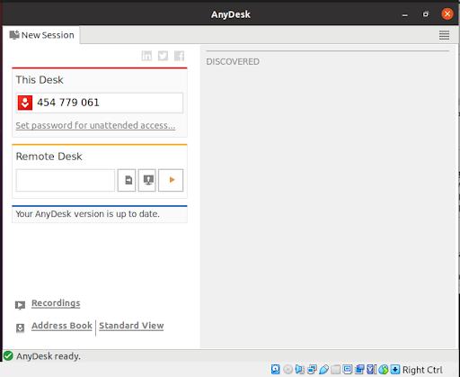 Приложение AnyDesk Ubuntu