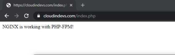 Тестовая конфигурация PHP-FPM