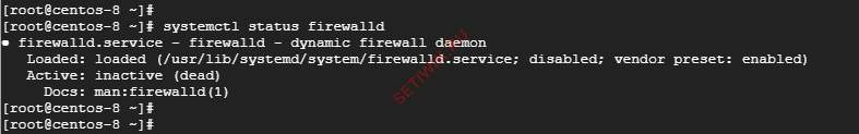 Проверка состояния firewalld