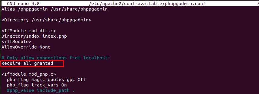 Конфигурация Apache для внешнего доступа