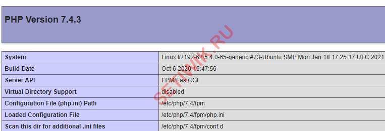 Тестовая конфигурация PHP-FPM с помощью NGINX