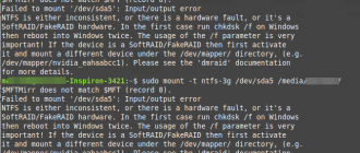 NTFS – Failed to mount '/dev/sdax': Input/output error