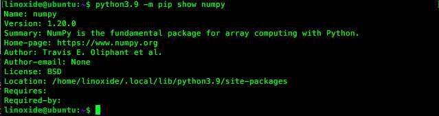 Пакет numpy для python3