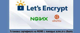 Установка сертификата на NGINX с помощью acme.sh в Ubuntu
