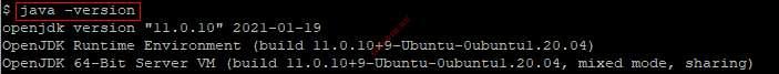 Проверка версии Java