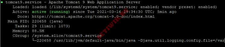 Проверка состояние службы Apache Tomcat
