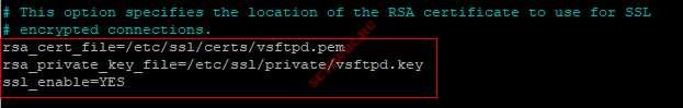 Включить TLS/SSL для Vsftpd