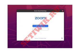 Экран входа в приложение ZOOM.