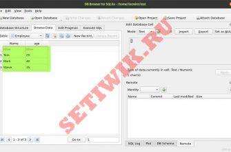 Браузер баз данных для SQLite