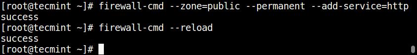 Открытие портов Nginx на брандмауэре CentOS