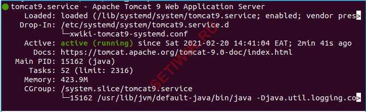 Tomcat работает