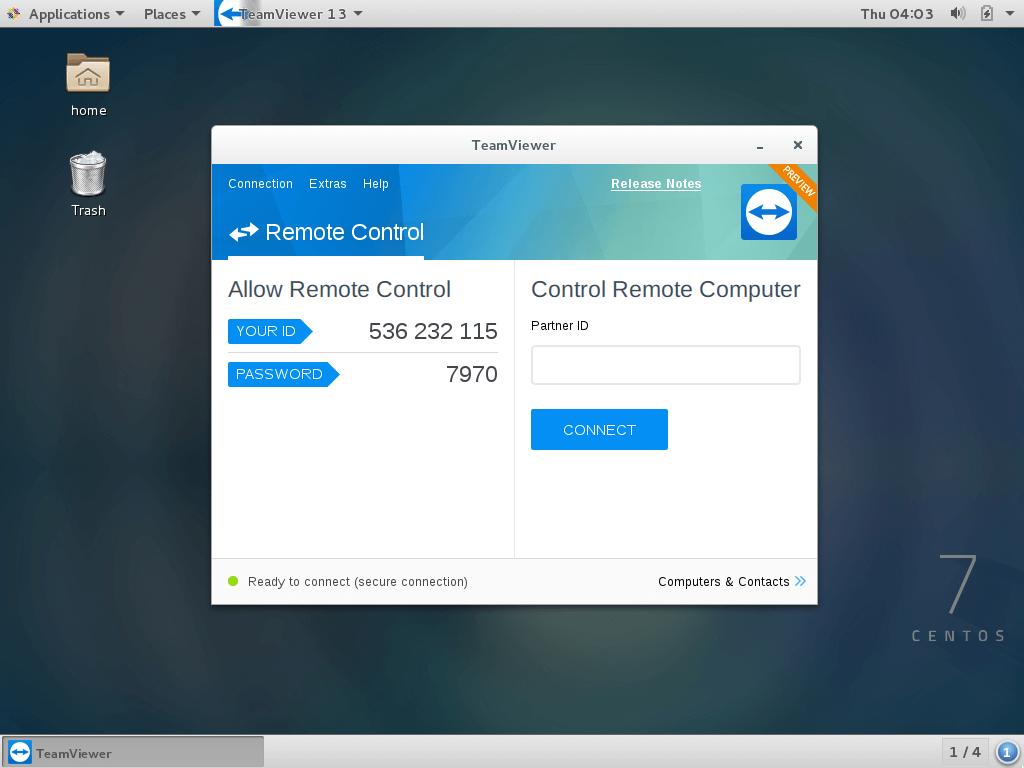 TeamViewer 15 работает на CentOS 7
