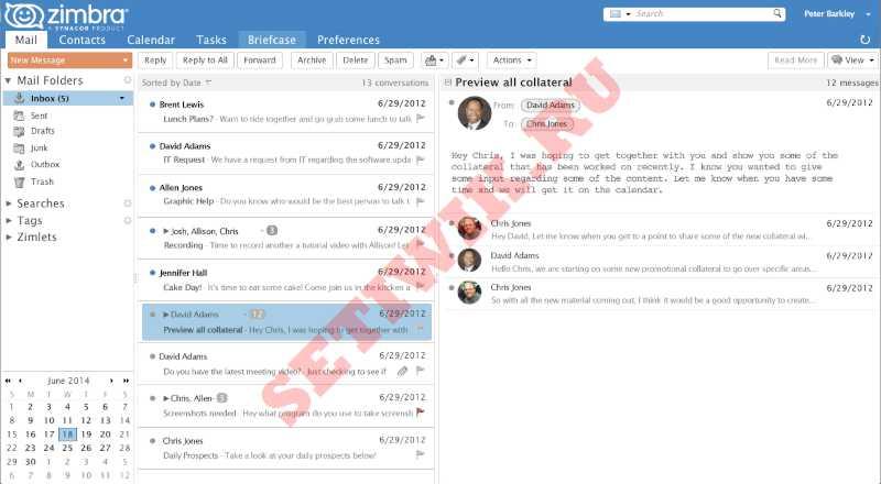Бесплатная альтернатива Microsoft 365 Zimbra Collaboration