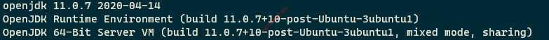 Проверка версии Java в Ubuntu