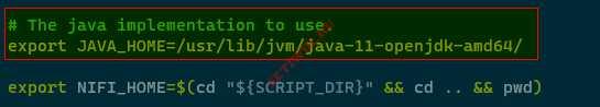 Добавление Java Home в Nifi