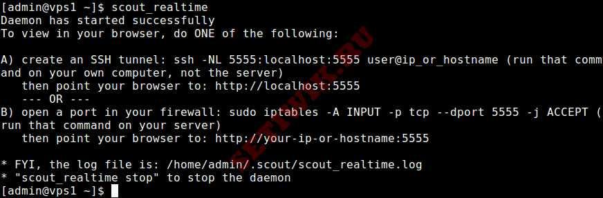 Запуск Scout_Realtime на сервере linux
