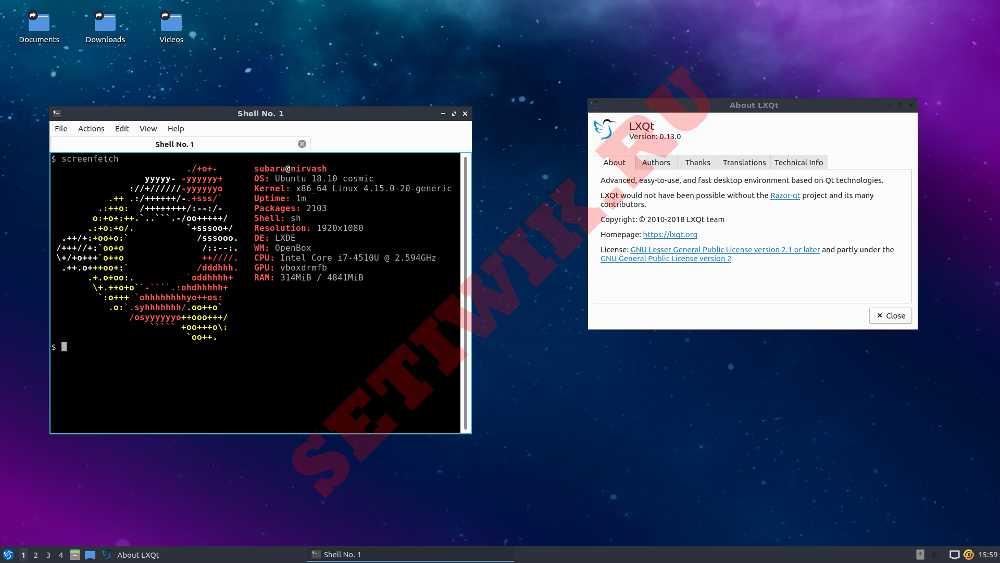Запуск рабочего стола LXQt в Ubuntu 18.04