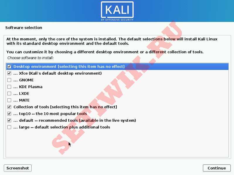 Установщик Kali Linux