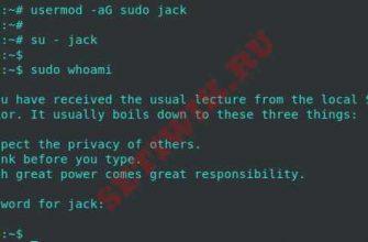 Тестирование пользователя sudo