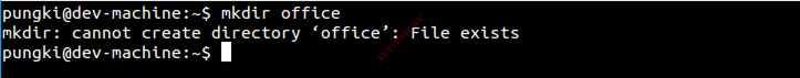 Ошибка создания каталога mkdir