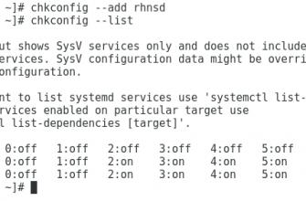 Команда Chkconfig в Linux с примерами