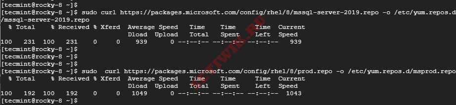 Добавление репозитория Microsoft SQL Server в RHEL, Rocky Linux и AlmaLinux